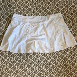 All white tennis skirt with cute ruffle